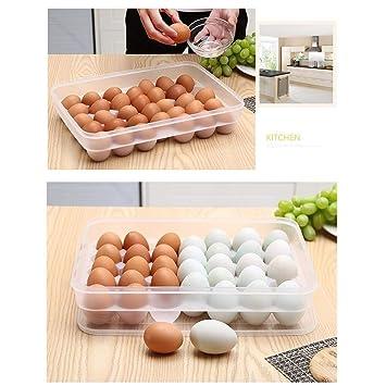 Huevera for 34 huevos, Contenedor de huevo congelado Binz, Caja de ...