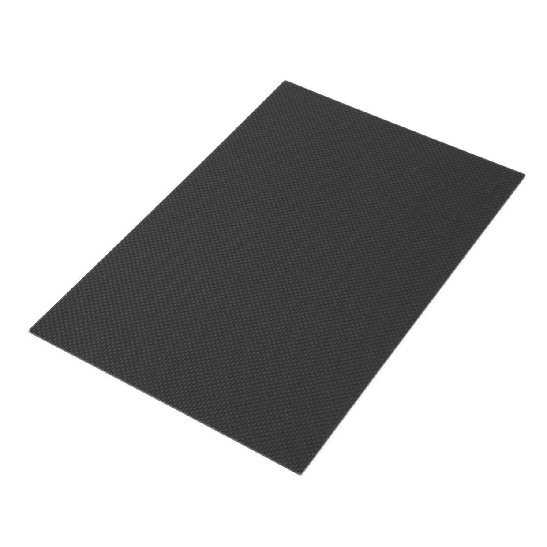 200 MXECO Strong and Light 300 1mm Full Carbon Fiber Plate Panel Sheet Plain Weave Matt Surface for RC Assemblage