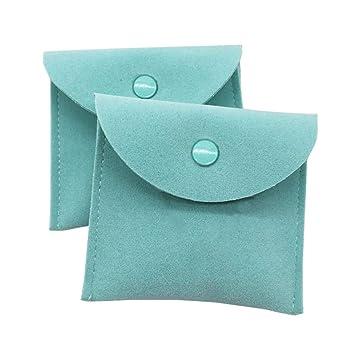 Amazon.com: Vinerstar - Juego de 2 bolsas de joyería de piel ...