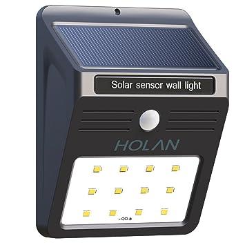 Holan Solar Luz de LED Foco con Sensor de Movimiento para Exterior de Luz Solar LED