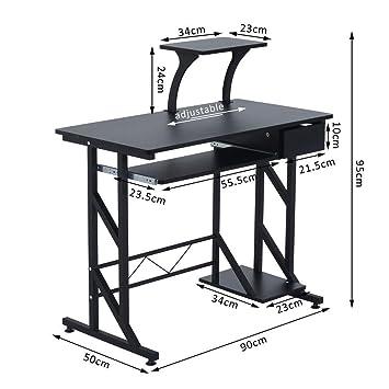 Genérico * Mesa de Ordenador con omputer PC Ordenador portátil Compacto Compacto Ordenador PC portátil Des Home Oficina estación de Trabajo estación de ...