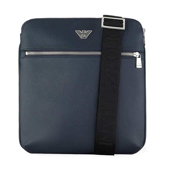 057602c795 Emporio Armani borsa uomo a tracolla borsello originale blu: Amazon ...