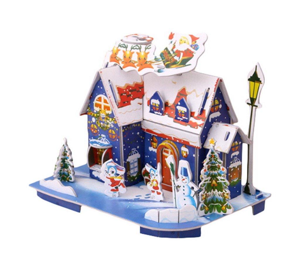 直営店に限定 comvipクリスマスショッピングモールデコレーション3dパズルジグソー漫画家ブルー B0772F45T6 B0772F45T6, きもの処えりよし:e0b90a12 --- clubavenue.eu