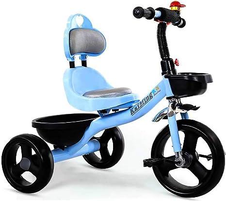 Triciclo Simple para Niños - Carro De Bebé - Bicicleta - Asiento De Cuero Triciclo para Niños/Bicicleta para Bebés De 2 A 6 Años: Amazon.es: Deportes y aire libre