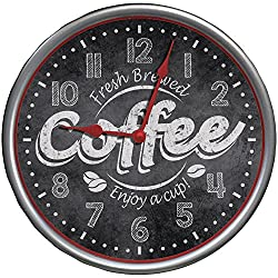 Westclox 32902 It's Time for Coffee Clock, Accessory, Gray