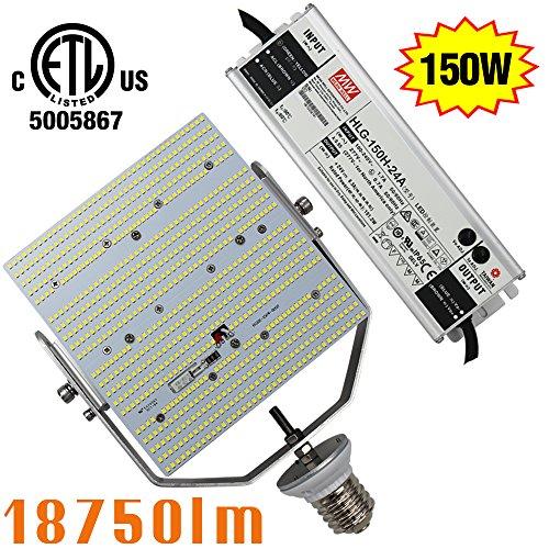AC100~277V 150W Shoebox Light Retrofit Parking Lot Replace 1000W Metal Halide 6000K Daylight E39 Mogul Base 2835SMD Retrofit LED Tennis Court Gym Lighting 110V 220V