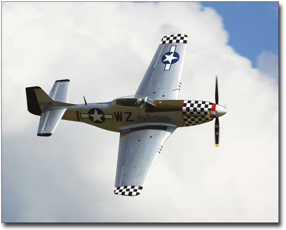 P-51 / P-51D Mustang Big Beautiful Doll 8x10 Silver Halide Photo Print by The McMahan Photo Art Gallery & Archive