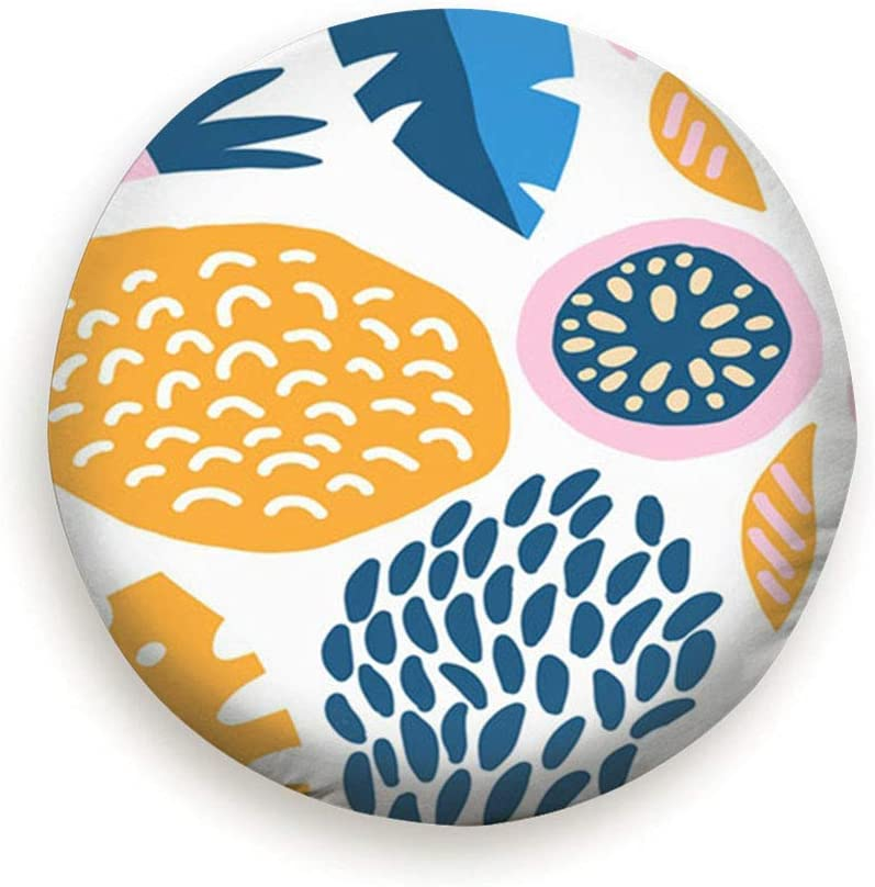 Drew Tours Tire Cover Universal Spare Wheel Cover Travel Trailer Accessories Modern Decorative Exotic Jungle Fruits Plants Nature Floral Objects 15inch