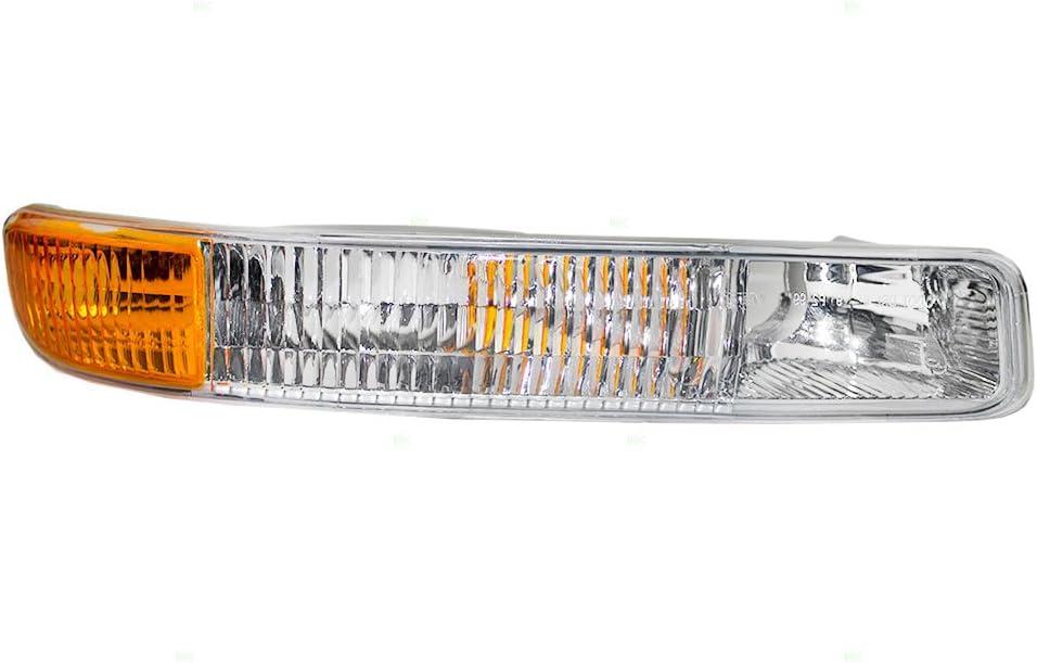 Passengers Park Signal Front Marker Light Lamp Lens Replacement for GMC SUV Pickup Truck 15199561 AutoAndArt