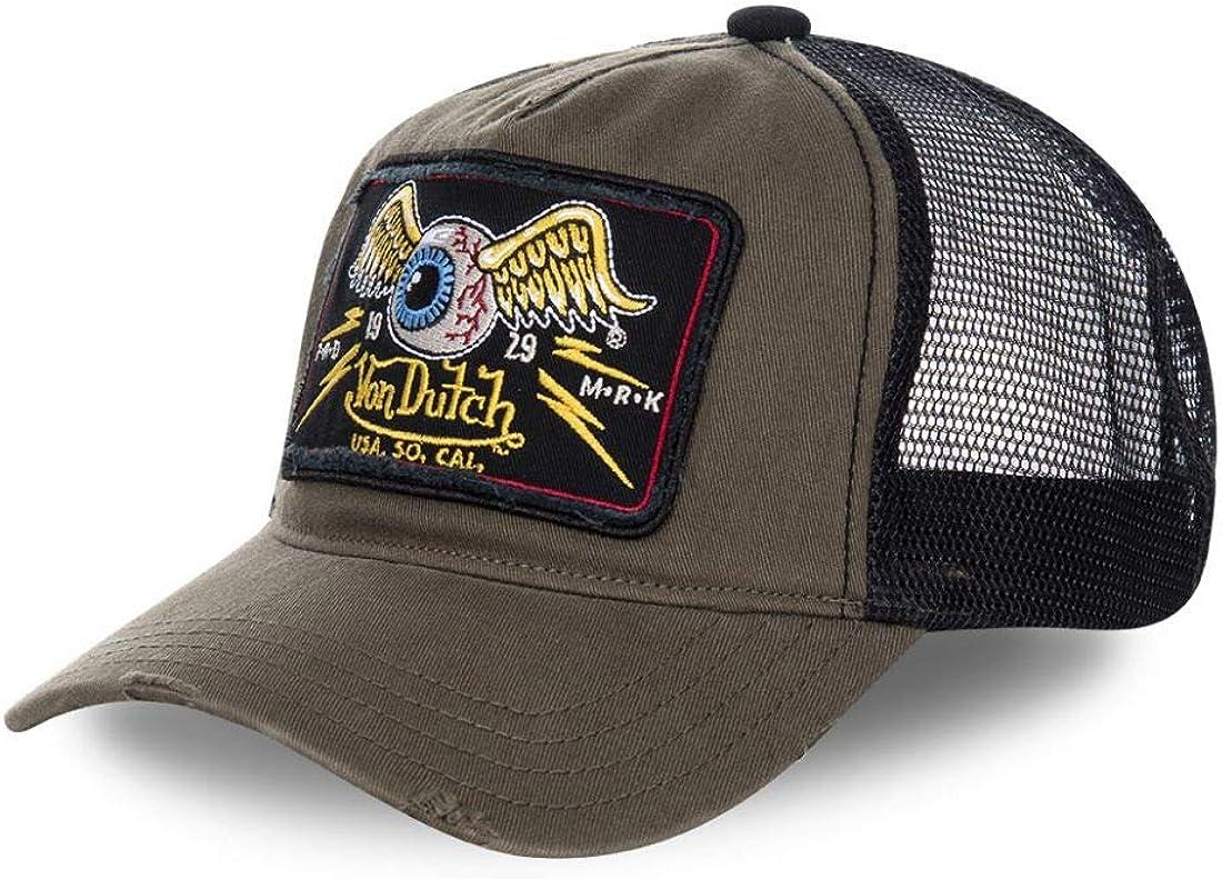 VON DUTCH Cappellino Trucker Von Dutch Lof nero taglia unica uomo//donna