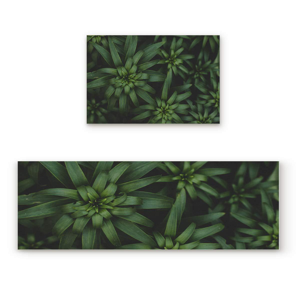 Leaves44FIY8030 19.7x31.5In+19.7x47.2In Non-Slip Indoor Door Mat Entrance Rug Rectangle Absorbent Moisture Floor Carpet for Vintage Wood pinks Doormat 23.6x35.4In+23.6x70.9In
