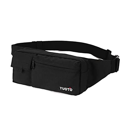 818b6e0c58e YUOTO Fanny Pack 4 Pockets Travel Workout Cycling Running Waist Bag Hip  Belt Bum Bag Men