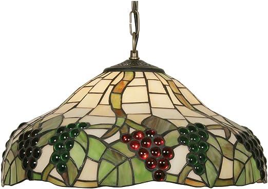 Imagen deOaks Lighting OT 0209/16 P - Lámpara de pared (cristal Tiffany), diseño de uvas