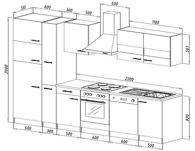 respekta Ceran - Cocina Equipada integrada línea 310 cm en ...