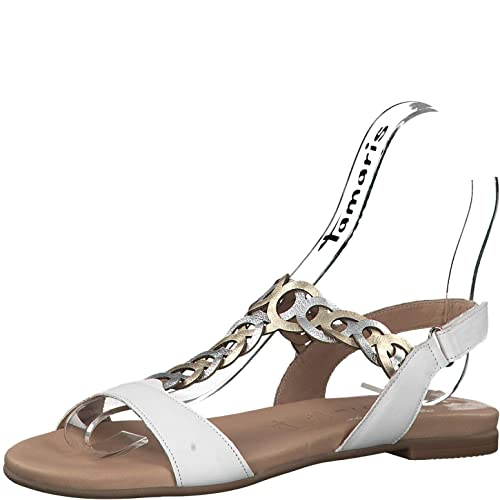 Tamaris 1 1 28127 22 Women Strappy Sandals,Sandal,Strappy Sandals,Summer Shoes,Comfortable,Flat,Touch IT