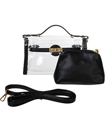 3c8df0e8013 Yocatech Clear Crossbody Messenger Shoulder Bag Purse for Women Adjustable  Strap, NFL Stadium Approved