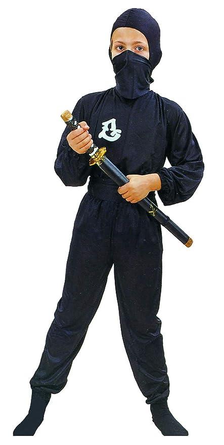 Disfraz negro de ninja comando para niño: Amazon.es ...