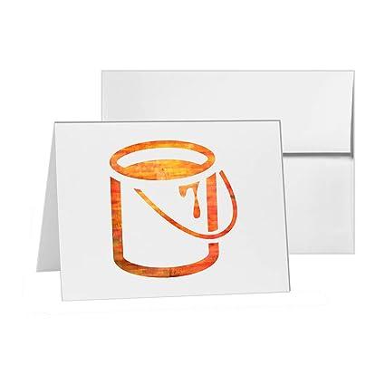 Cubo interior para pintar latas, en blanco, 15 tarjetas de ...