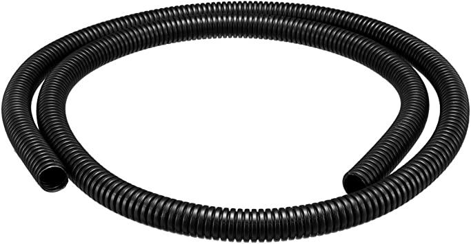uxcell 10M Length 13mm Outside Dia Corrugated Bellow Conduit Tube for Electric Wiring Black a18040300ux0019