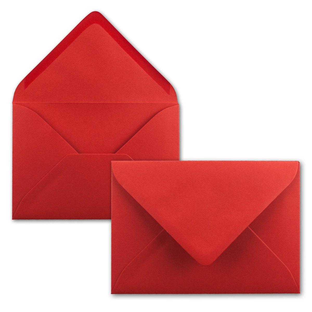 dimensioni/162 x 114/mm in colori vivaci 100 Umschl/äge 29-Rot Neuser Buste per lettere chiusura adesiva da inumidire formato C6