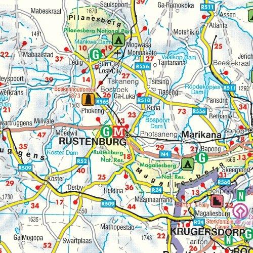 Sudáfrica, mapa de carreteras. Escala 1:1.500.000. Freytag ...