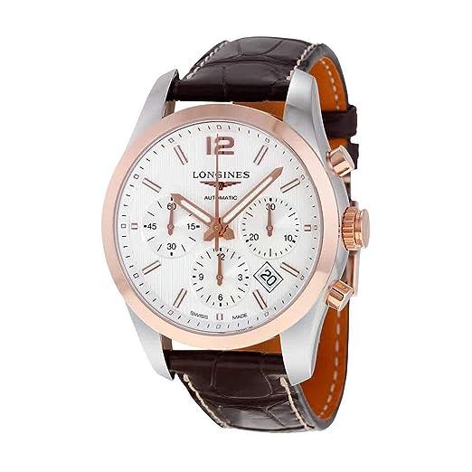 Longines Conquista clásico blanco Dial Cronógrafo Automático Mens Reloj l27865763: Amazon.es: Relojes