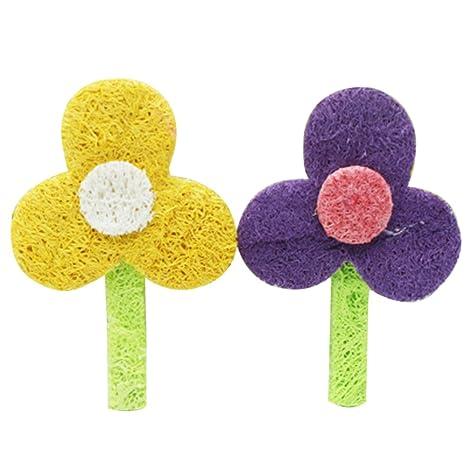 Vi.yo Juguetes de Masticar Resistentes a los ácaros, Forma de Flor Natural,