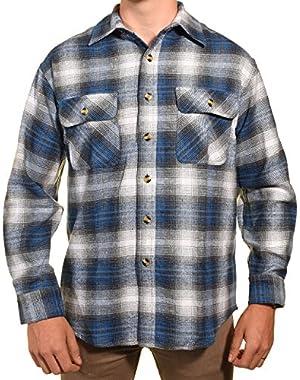Pro Elite Mens Heavy Duty Flannel Shirt