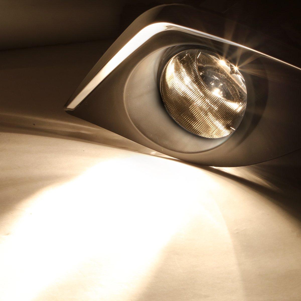 for 14-16 Corolla DNA MOTORING Clear FL-ZTL-170-CH Pair Fog Light w//Switch