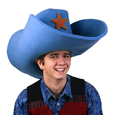 97c7d510ce7 Amazon.com  Clown Antics Super Size 50 Gallon Cowboy Hats - Blue (28 ...