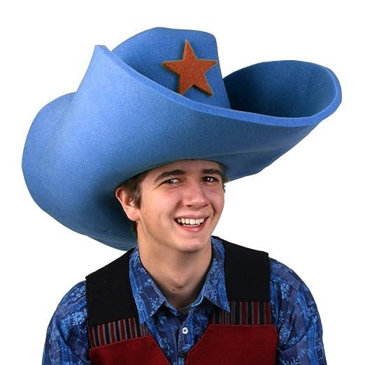 Amazon.com  Clown Antics Super Size 50 Gallon Cowboy Hats - Blue (28 ... accd0277424