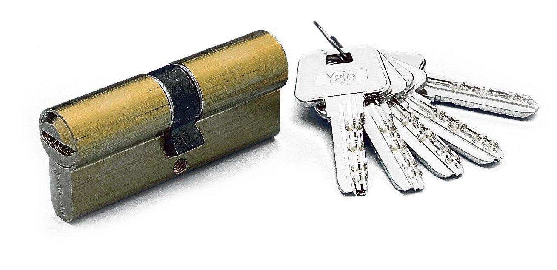 Hs-7 30x40//r15,0 Latonado 30x40 mm Yale 3012190 Cilindro Azbe Seguridad