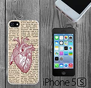Vintage Anatomical Heart Newspaper Custom made Case/Cover/skin FOR iPhone 5/5s