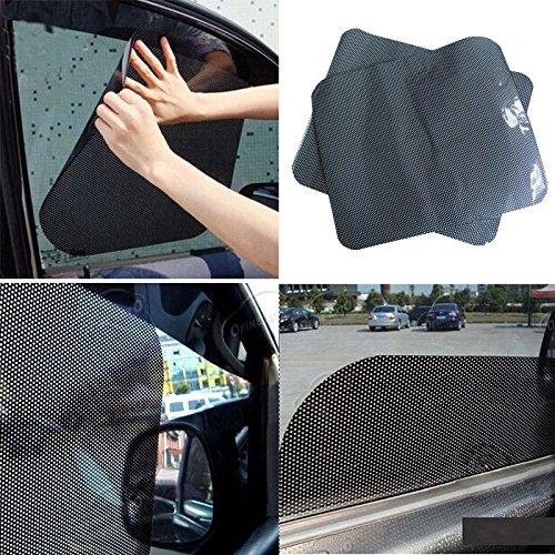 Sedeta 2Pcs Car Window Side Sun Shade Cover Block Static Cling Visor Screen Black