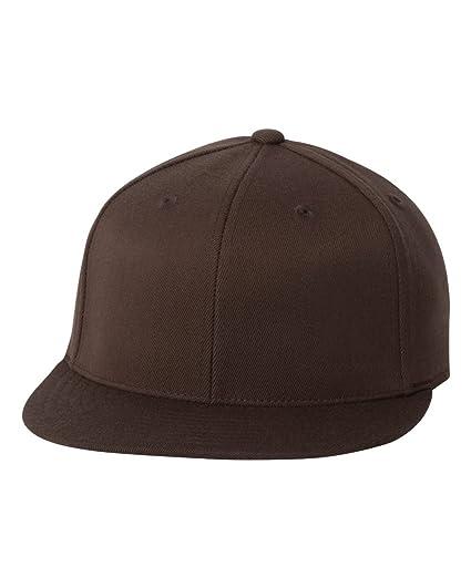 2c79f1761f4 Flexfit Original Blank Flatbill Premium Fitted 210 Hat Cap Flex Fit ...