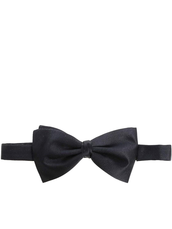 Ermenegildo Zegna Men's ZXR434S2A Black Silk Bow Tie
