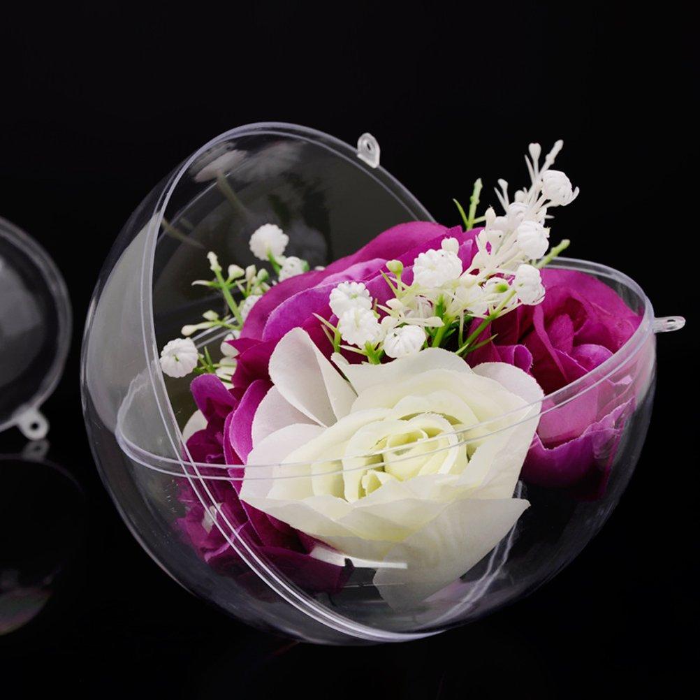 Amosfun 20pcs Boule Transparent Boule /à remplir en Plastique d/écoration Suspension pour Mariage