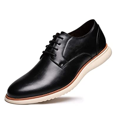 cd273a9c08 Men's Dress Shoes Leather Oxford Lace Up Walk Oxford for Men Black 01 ...