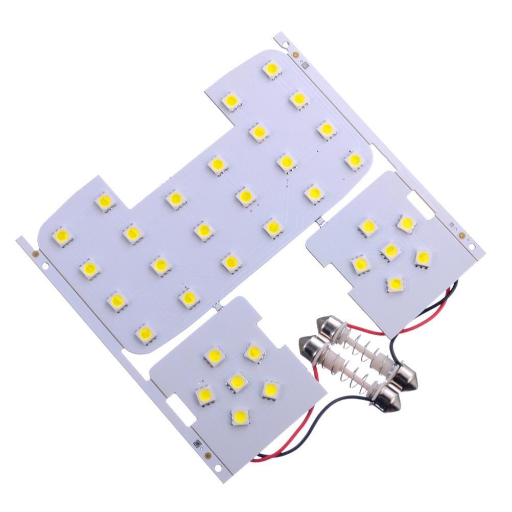 Quaant Car LED Light,3 Pcs For Kia Rio K2 2006-2012 For Hyundai Solaris Verna Reading Lights Dome Lamps Interior LED White (White)