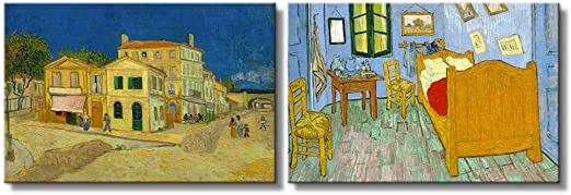 Vincent Van Gogh The Yellow House Giclee Canvas Print Oil Painting 12x16 inch