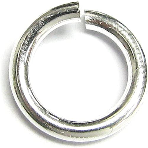 Open Jump Rings 3,4,5,6,7,8,9,10mm,Findings. Sterling 925 Solid Silver Heavy