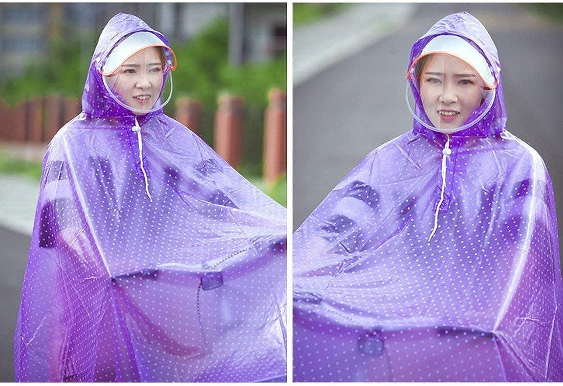 Giacca Antipioggia da Donna Moda Leggero Cappuccio Impermeabile con Festa Style E Poncho Impermeabile Impermeabile Impermeabile da Pioggia Purple