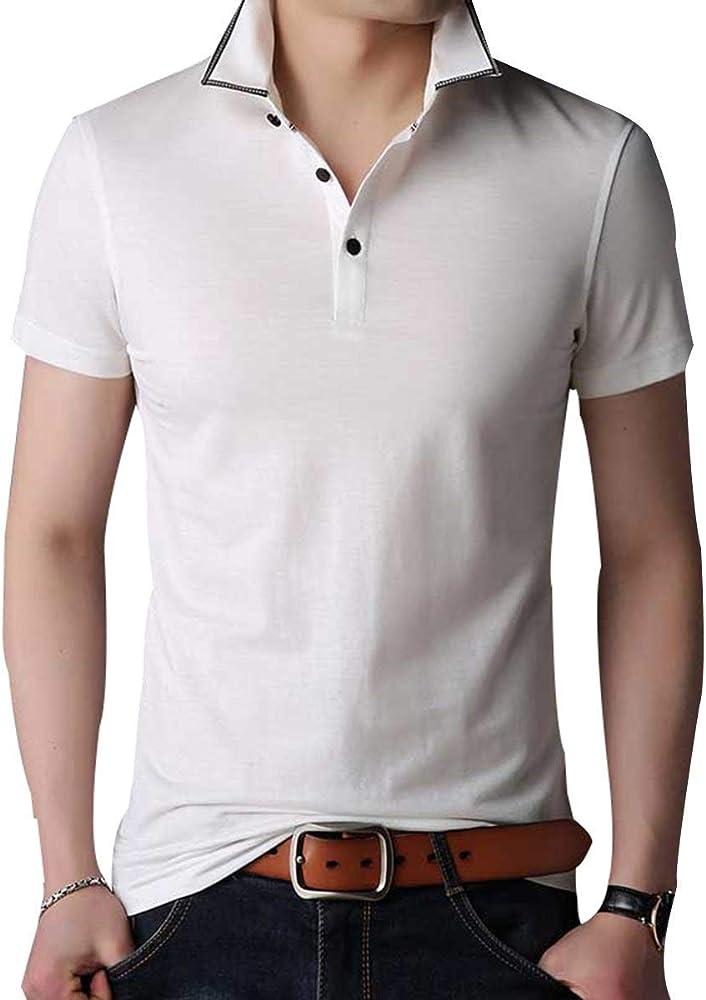 2018 Thin Lapel Mens T Shirt Camisa De Ropa Color Sólido Primer ...