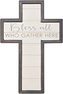 Creative Brands Faithworks-Spiritual Harvest Weathered Gray Wall Cross, 12-Inch, Bless All