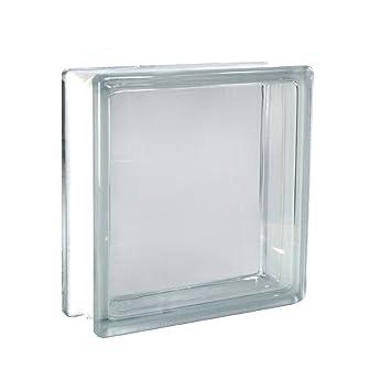 5 St/ück FUCHS Glassteine Wolke Klar 24x24x8 cm