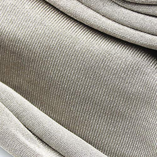 100% Silver Fiber Fabric Radiation EMF Protection Material Silver Conductive Fabric for Shielding Cage Sold by 80