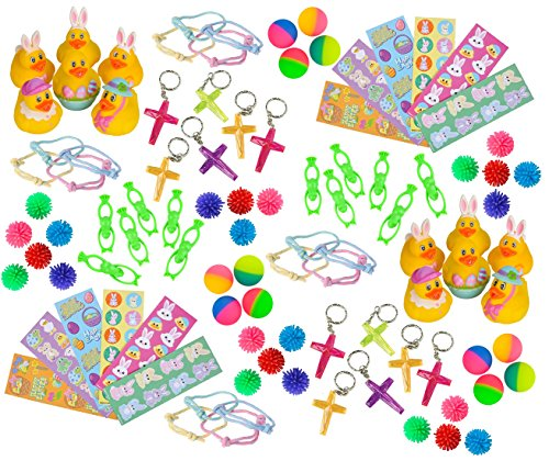 r Themed Party Favor Assortment Bundle for Kids Parties, Easter Egg Filler, Baskets or Classroom ()