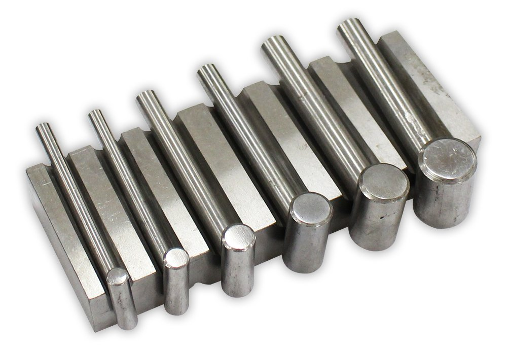 6 1/2 x 2 1/2 x 1'' Channel Forming Block With Corresponding Size Hammers