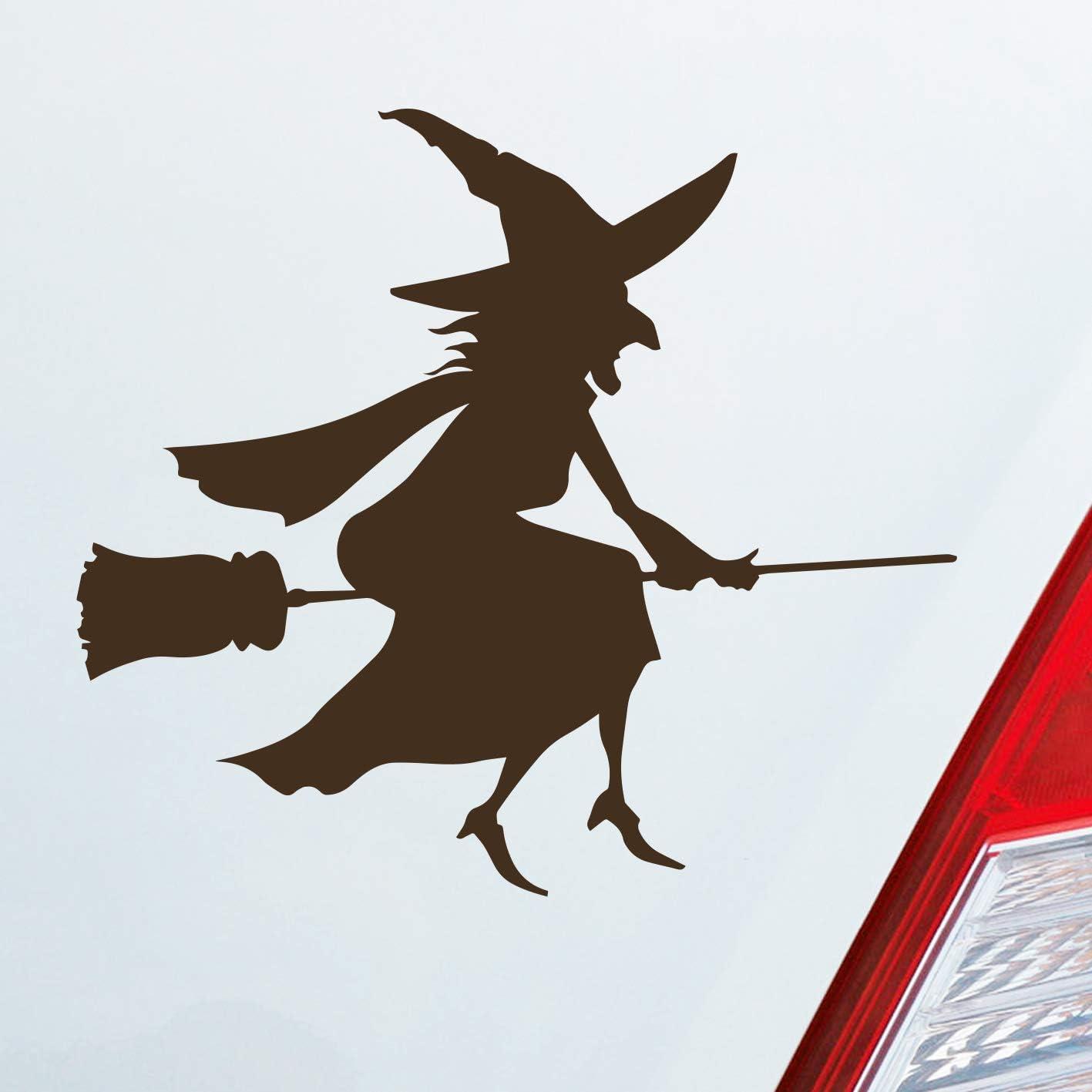 Auto Aufkleber In Deiner Wunschfarbe Hexe Witch Besen Frau Hexerei Fun Dub Oem Jdm 11x10 Cm Autoaufkleber Sticker Auto