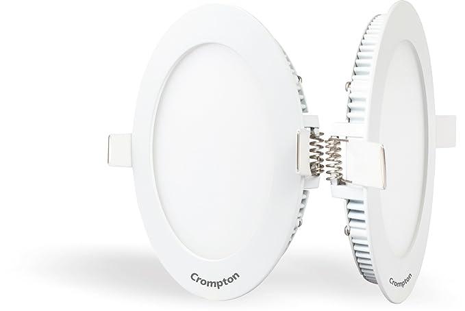 Crompton LSDRMN-CDL-Pro2 Slim Flat 15-Watt LED Panel Light Combo (Pack of 2, Cool Day Light, Round)